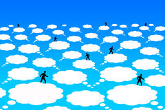 Comunicazione della nuvola Fotografie Stock