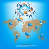 Comunicazione della nuvola illustrazione di stock