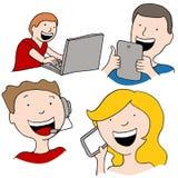 Comunicazione di Digital royalty illustrazione gratis