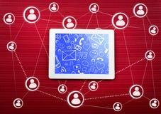 Comunicazione di Internet illustrazione di stock