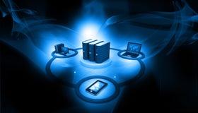 Comunicazione di Internet e della rete di computer illustrazione vettoriale
