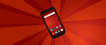 Comunicazione di tecnologia dello Smart Phone di protesta di colpo di propaganda rossa di rivoluzione forte Fotografia Stock