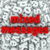 Comunicazione difficile dei messaggi misti compresa male Immagine Stock Libera da Diritti