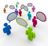Comunicazione disorganizzata - parlare della gente Immagini Stock Libere da Diritti