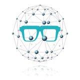 Comunicazione e settore di vetro Fotografia Stock