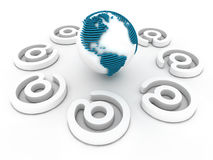 Comunicazione globale Fotografia Stock