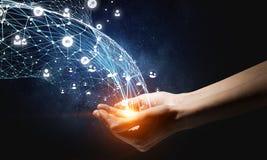 Comunicazione globale ed associazione Immagine Stock Libera da Diritti