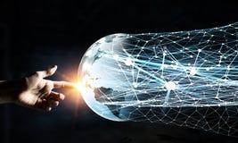 Comunicazione globale ed associazione Immagini Stock