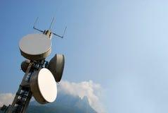 Comunicazione GSM, torretta di Umts e Hsdpa Fotografia Stock Libera da Diritti