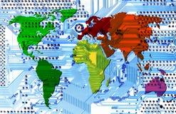 Comunicazione - mondo di calcolatore Fotografia Stock Libera da Diritti