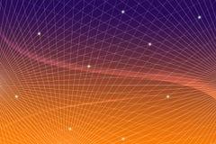 Comunicazione scientifica di tecnologia di informazione tecnica del fondo di web della rete di pendenza di griglia fotografia stock
