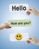 Comunicazione sociale Immagine Stock