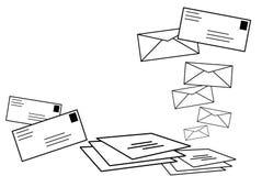 Comunicazione sociale della rete della posta. Fotografia Stock Libera da Diritti