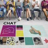 Comunicazione sociale di chiacchierata di comunicazione del blog di media fotografie stock libere da diritti