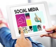 Comunicazione sociale di chiacchierata di comunicazione del blog di media immagini stock libere da diritti