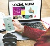 Comunicazione sociale di chiacchierata di comunicazione del blog di media immagine stock libera da diritti