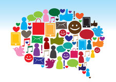 Comunicazione sociale di media Immagine Stock