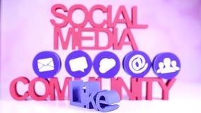 Comunicazione sociale di media, concetto di Internet, icone messe stock footage