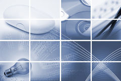 Comunicazioni e composizione in tecnologia Immagine Stock
