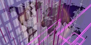 Comunicazioni frenetiche in un mondo globale 1 royalty illustrazione gratis