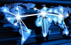 Comunicazioni globali Fotografie Stock Libere da Diritti