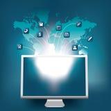 Comunicazioni globali Immagini Stock
