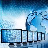 Comunicazioni globali ed Internet. Fotografia Stock