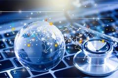 Comunicazioni mediche globali fotografie stock