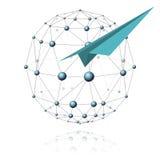 Comunicazioni settore ed aeroplano Illustrazione Vettoriale