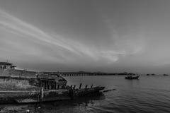 Comunidad de la industria pesquera en Tailandia Imágenes de archivo libres de regalías