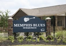 Comunidad de Memphis Blues Manufactured Home Rental Foto de archivo libre de regalías