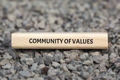 COMUNIDAD DE VALORES - la imagen con palabras se asoció a la COMUNIDAD DE VALORES, palabra, imagen, ejemplo del tema Imagen de archivo