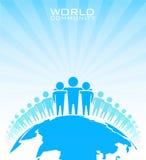 Comunidad del mundo. Concepto del negocio foto de archivo
