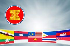 Comunidad económica de la Asociación de Naciones del c@sureste Asiático Foto de archivo