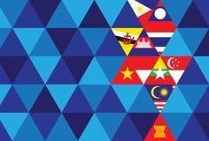 Comunidad económica de la Asociación de Naciones del c@sureste Asiático stock de ilustración