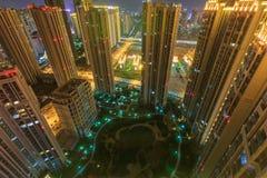 Comunidad en la noche, China de Xiamen fotografía de archivo