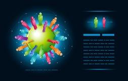 Comunidad global stock de ilustración