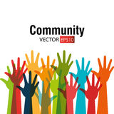 Comunidad y social ilustración del vector