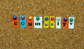 A comunidade Imagem de Stock Royalty Free