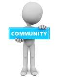A comunidade ilustração do vetor