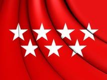 A comunidade da bandeira do Madri, Espanha ilustração stock