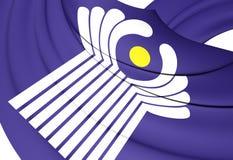 Comunidade da bandeira dos estados independentes Foto de Stock Royalty Free