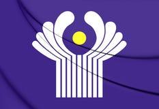 Comunidade da bandeira dos estados independentes Fotografia de Stock
