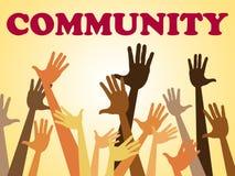 A comunidade das mãos representa o grupo organizado e completamente ilustração royalty free