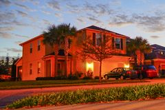 A comunidade das palmas de Tampa fotografia de stock royalty free