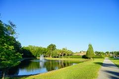 A comunidade das palmas de Tampa Fotos de Stock Royalty Free