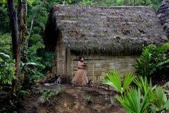 A comunidade de Cotococha, Amazónia, Equador fotos de stock royalty free