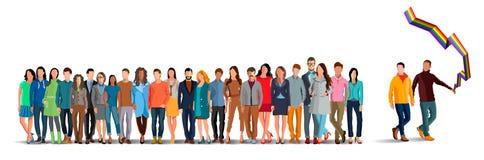 A comunidade de LGBT ilustração stock