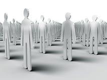 A comunidade de povos idênticos Fotos de Stock