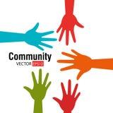 A comunidade e social ilustração do vetor